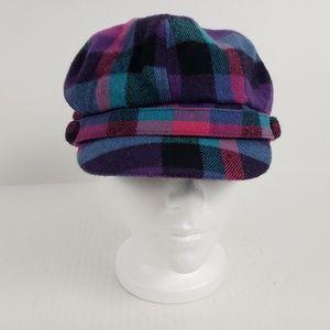 Manhattan Hat Co Cap Cabbie Newsboy Plaid